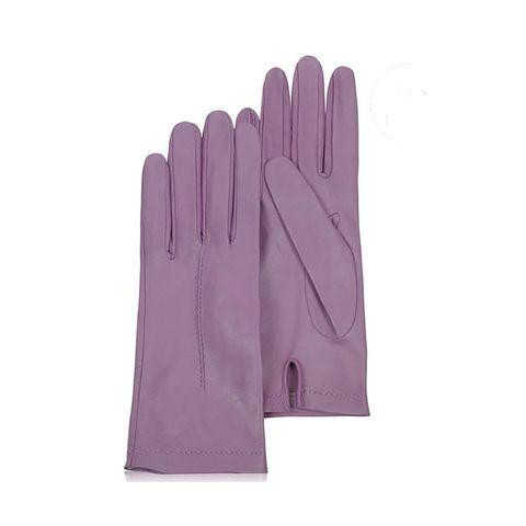 Lila leren handschoenen