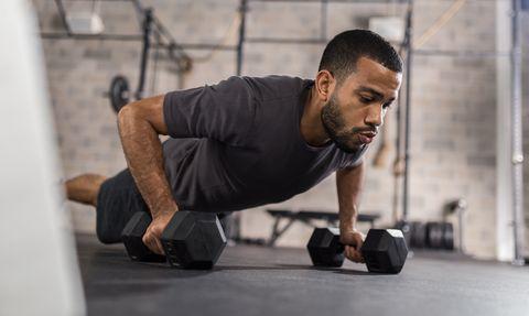 man doing press ups exercise