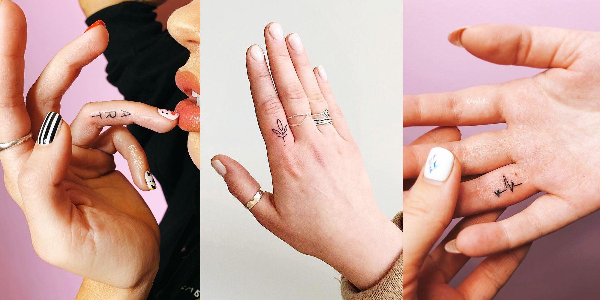 1bf390e18 Small Tattoo Ideas for Hands — Tiny Finger Tattoo Designs
