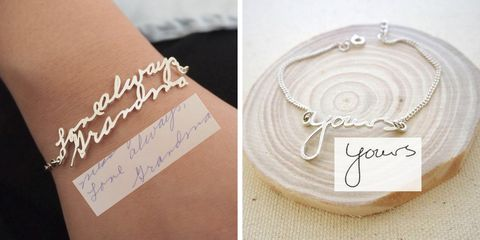 You Can Make a Handwritten Bracelet for Mother's Day