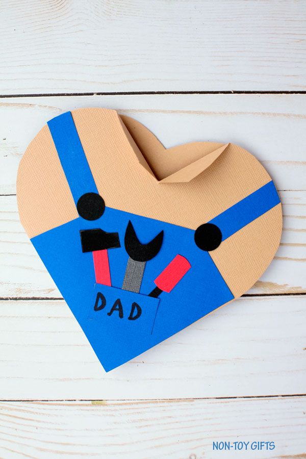 Personalised Handmade Happy Fathers Day Card Photo Dad Daddy Birthday Love Heart