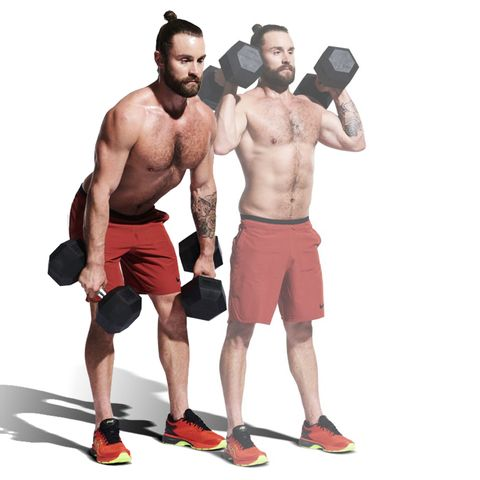 Weights, Exercise equipment, Kettlebell, Muscle, Standing, Arm, Bodybuilding, Sports equipment, Barechested, Chest,
