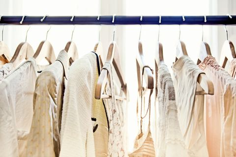 Hangers with clothes