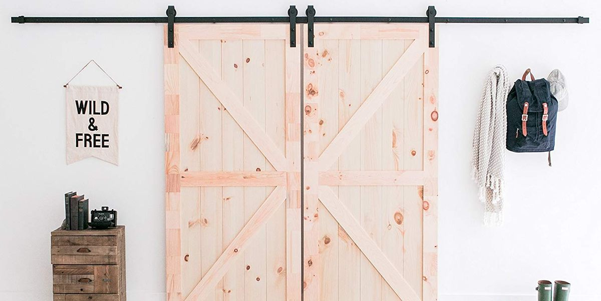 This DIY Sliding Barn Door Kit on Amazon Will Make Your Farmhouse Dreams Come True