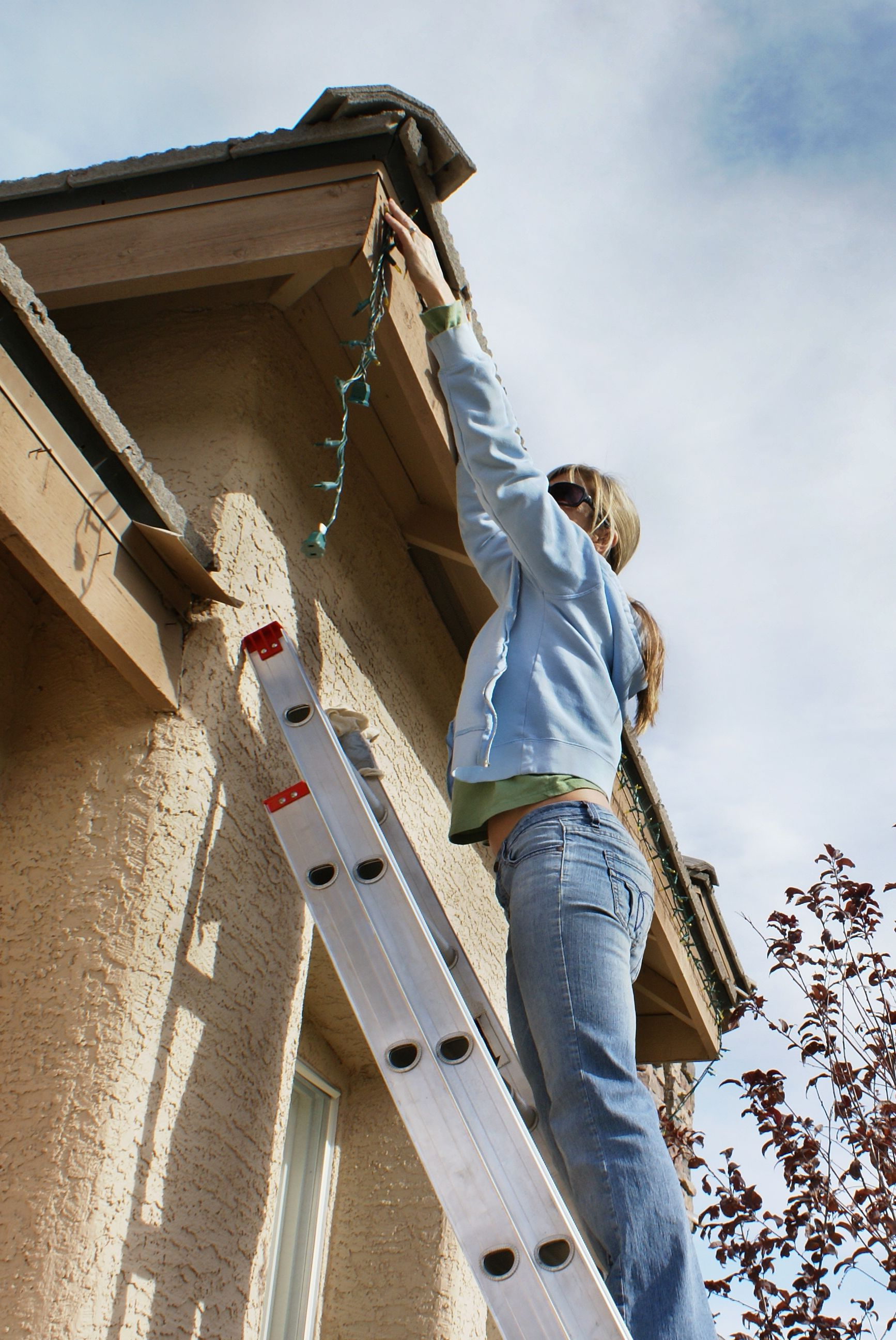 Hanging Holiday Lights