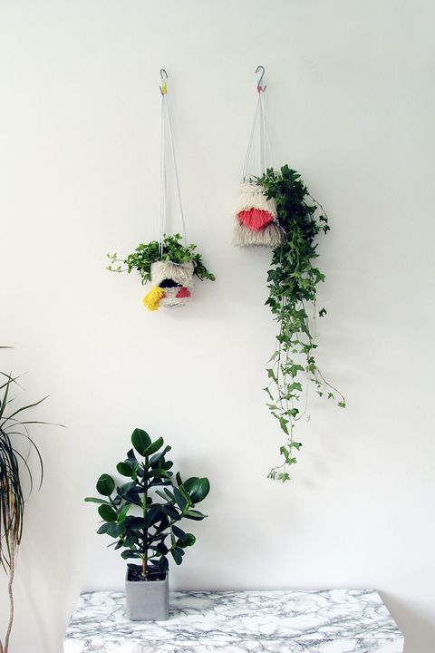 hanging planters woven
