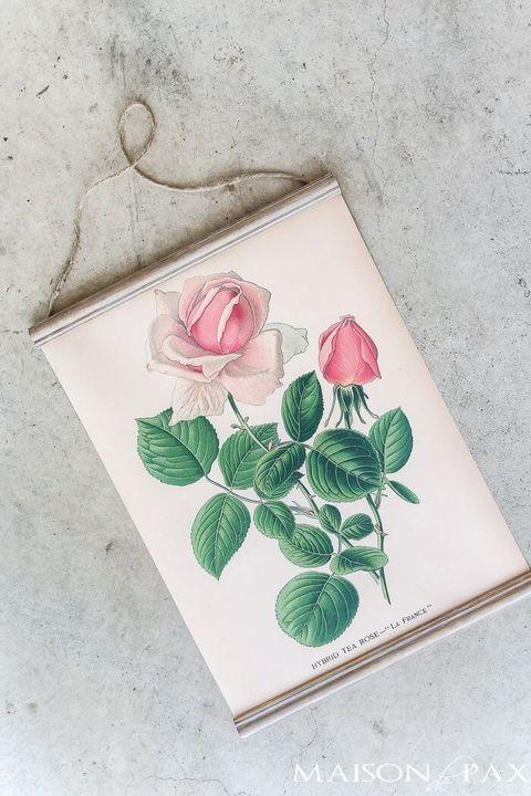 hanging printable botanical boho decor ideas