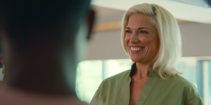 Hannah Waddingham as Sofia Marchetti in Sex Eduction on Netflix