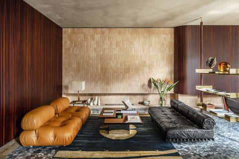 hannes peer designed home in milan living room