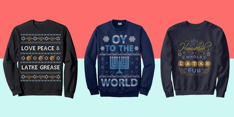 fe3e32dd8b 8 Hilarious Hanukkah Sweaters for All 8 Nights of Festivities