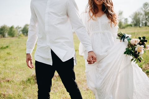 White, Photograph, Clothing, Dress, Wedding dress, Formal wear, Suit, Yellow, Bridal clothing, Shoulder,