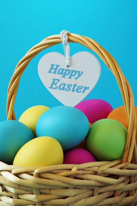 Happy Easter Basket Greetings Card