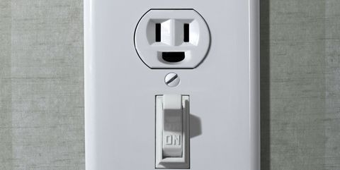 Happy electrical wall outlet
