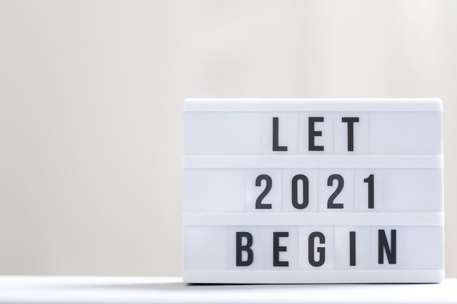 let 2021 begin happy new year sign