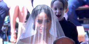 This page boy literally couldn't look any happier about being at the Royal Wedding