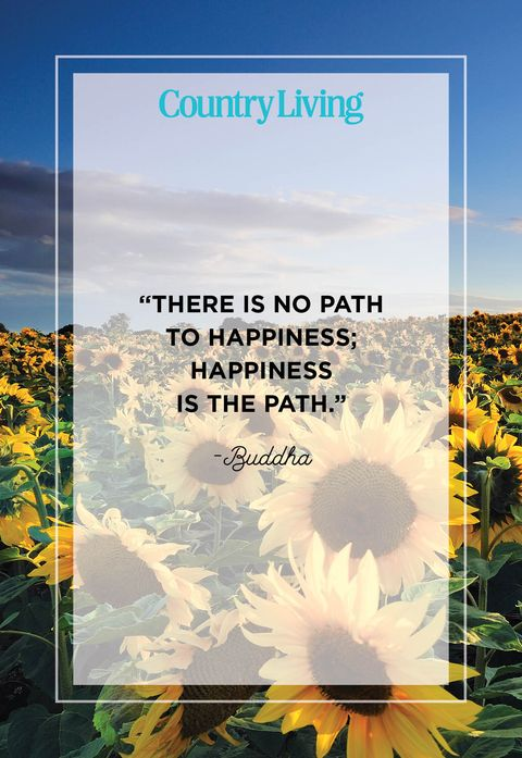 there is no path to happiness happiness is the path