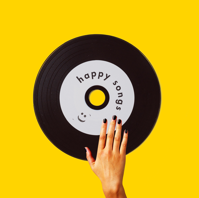 record with hand over it happy songs