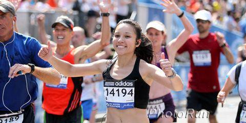 Happy finishers of the 2012 Boston Marathon