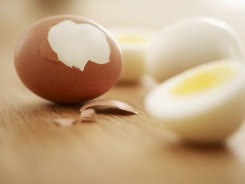hard boiled brown eggs