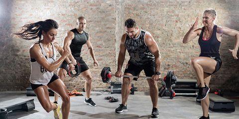 exercising hard workout