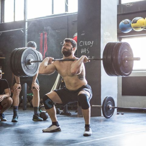 Hard workout on crossfit