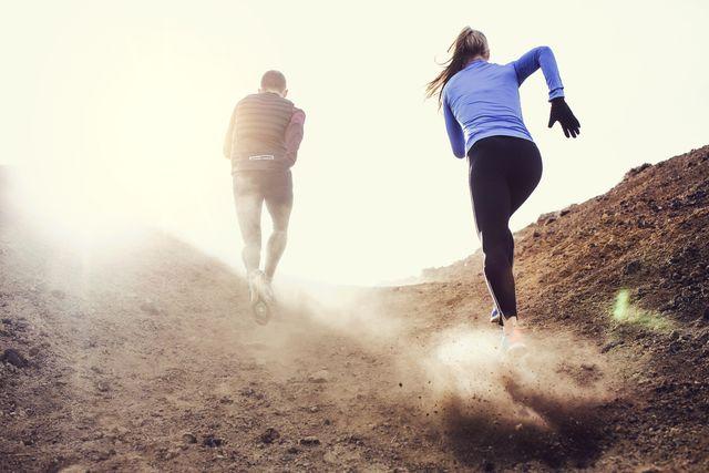 hardlopen op een heuvel is goed voor je kracht