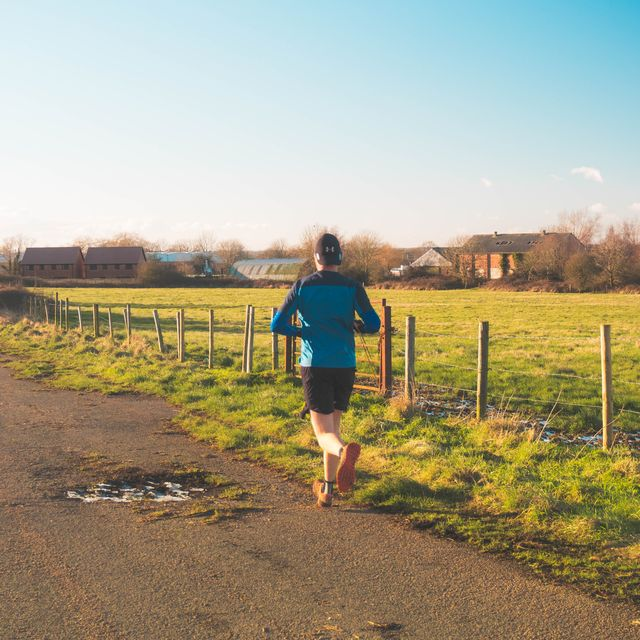 hardlopen door natuur