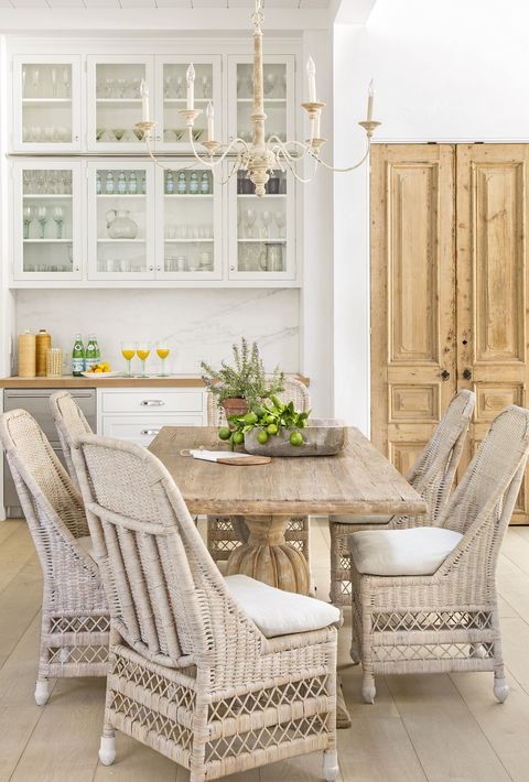 Furniture, White, Room, Chair, Property, Home, Interior design, Table, Floor, Wicker,