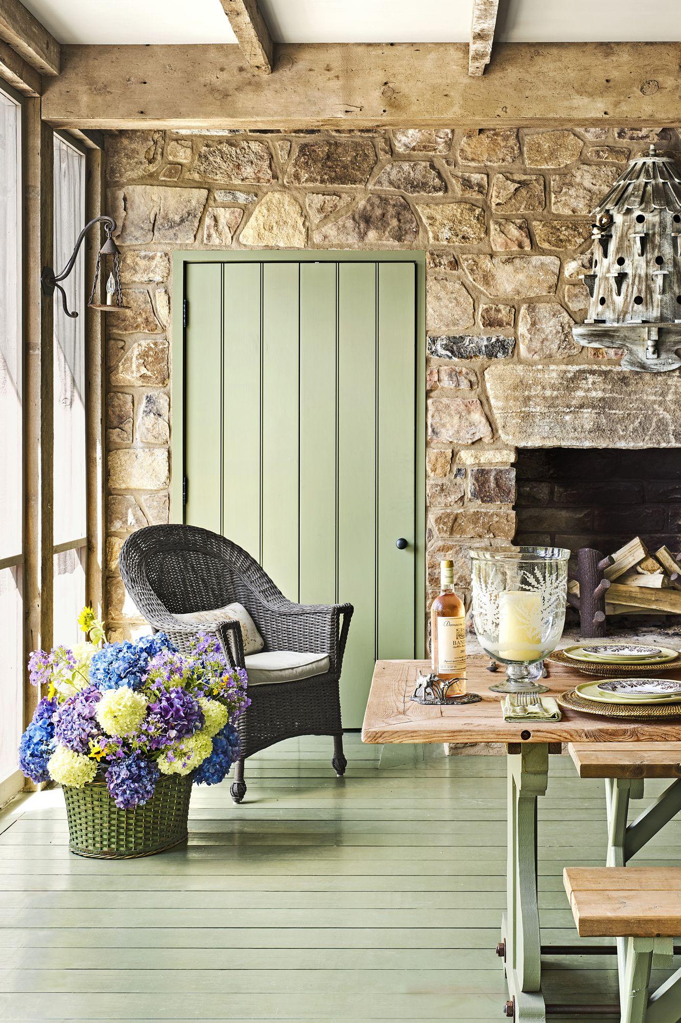 green hardwood floors