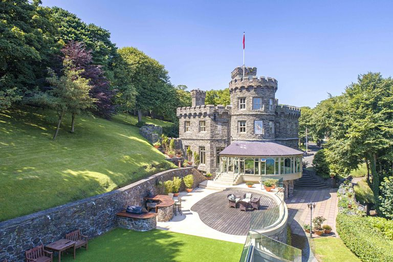 Gothic Tower Castle On The Isle Of Man S Coast Is Now For Sale