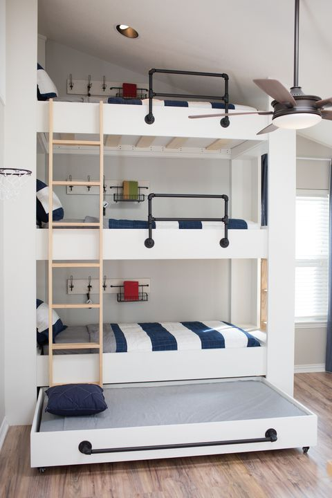 Triple Bunk Beds To Give Your Small Bedroom Extra Sleep Space Harp Design Co Wood Work Ford House