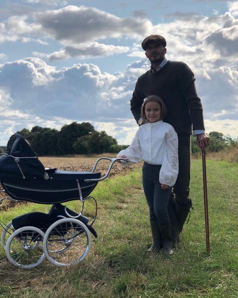 La hija de David y Victoria Beckham se está haciendo mayor.