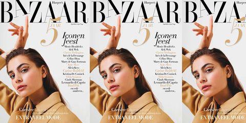 Harper's Bazaar september met Romy Schönberger