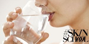 #SkinSchool: Does drinking water actually hydrate your skin?