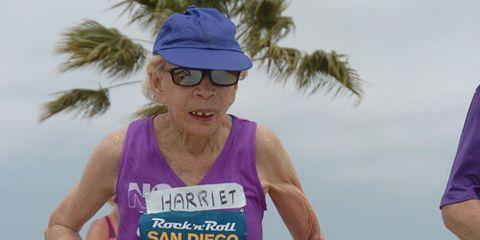 Harriette Thompson Running San Diego Marathon