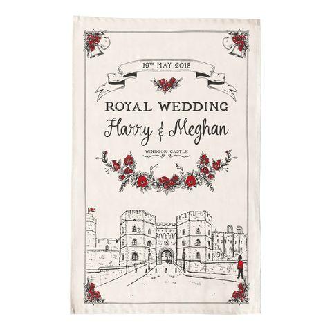 Harry and Meghan Wedding Tea Towel - Etsy - Victoria Eggs