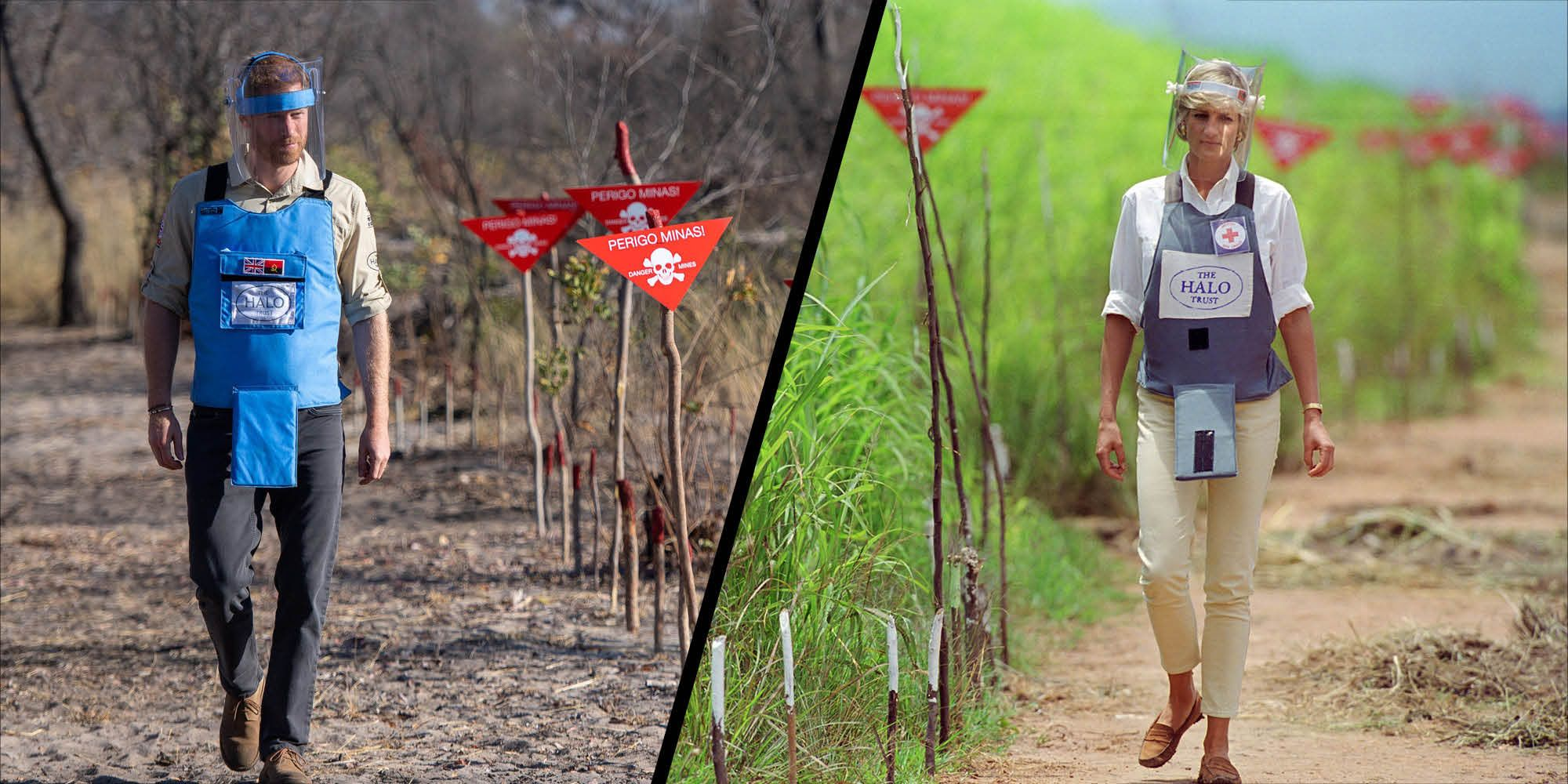 Duke of Sussex retraces the steps of Diana, Princess of Wales at Angola landmine field