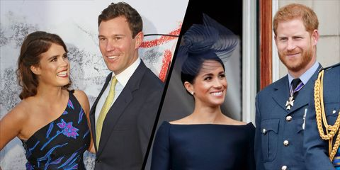 Princess Eugenie and Jack Brooksbank - Meghan Markle and Prince Harry