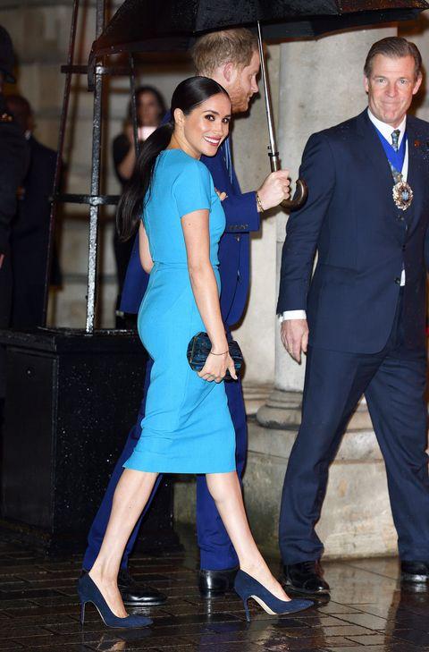 Image result for meghan markle blue dress