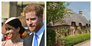Prince Harry and Meghan Markle / Great Tew cottage in the Cotswolds