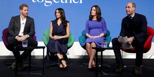 Harry, Meghan, Kate and William at the Royal Foundation forum