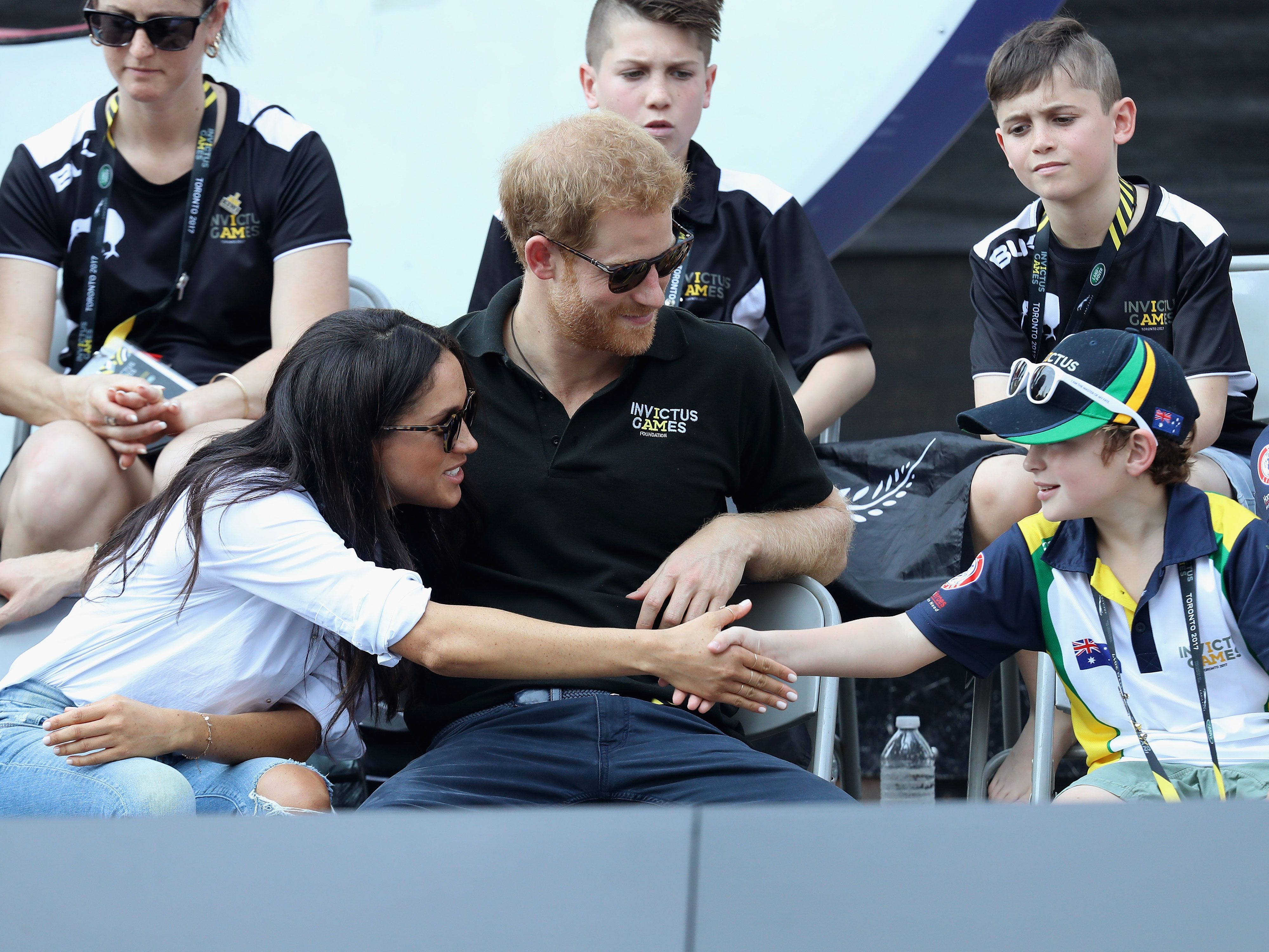 Harry and Meghan with kids