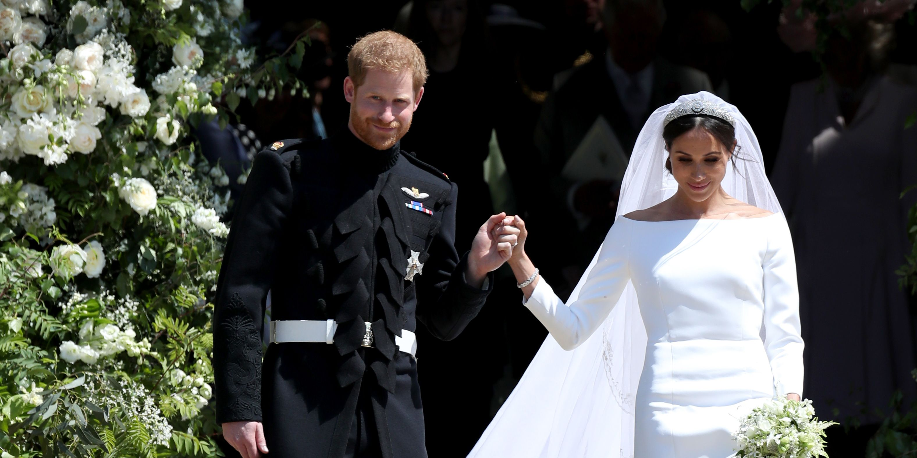 Prince Harry, Meghan Markle, flowers, St George's Chapel