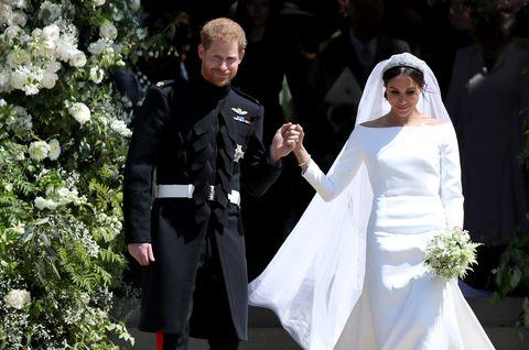Prince Harry, Meghan Markle, flowers, St George's Chapel