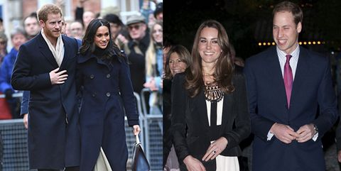 Meghan Markle and Prince Harry first royal engagement compared to Duke and Duchess of Cambridge