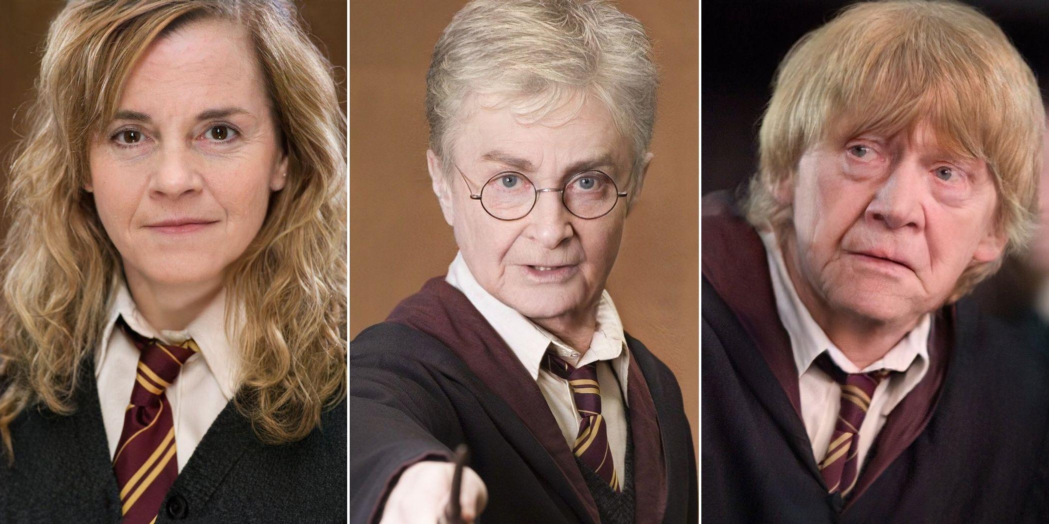 Harry Potter: FaceApp envejece a los personajes de la saga