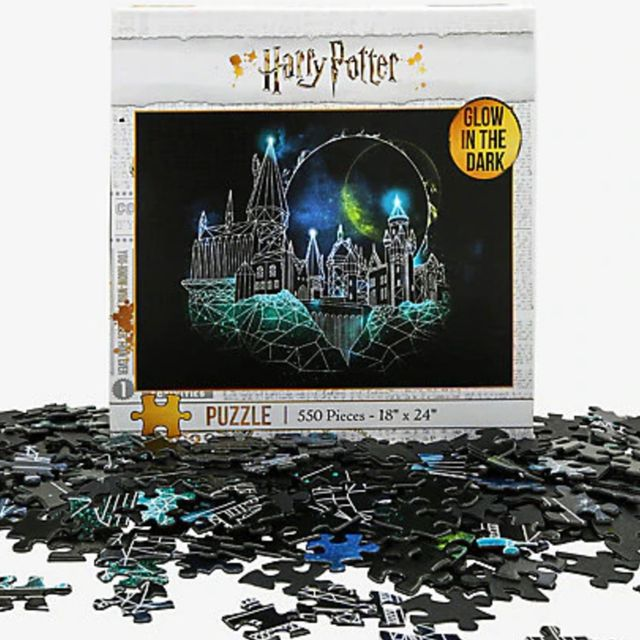 glow in the dark 'harry potter' puzzle