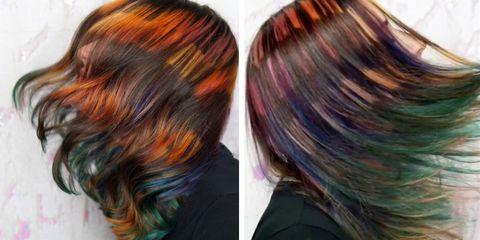 Hair, Hair coloring, Hairstyle, Brown hair, Caramel color, Brown, Blond, Black hair, Layered hair, Step cutting,
