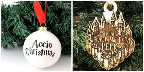 harry potter ornaments - Harry Potter Christmas Decorations