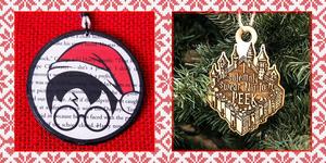 harry potter christmas ornaments